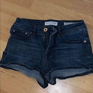 Bullhead high rise Jean shorts